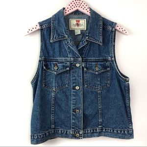 Levi's Vintage Jean Denim Vest Button Pockets